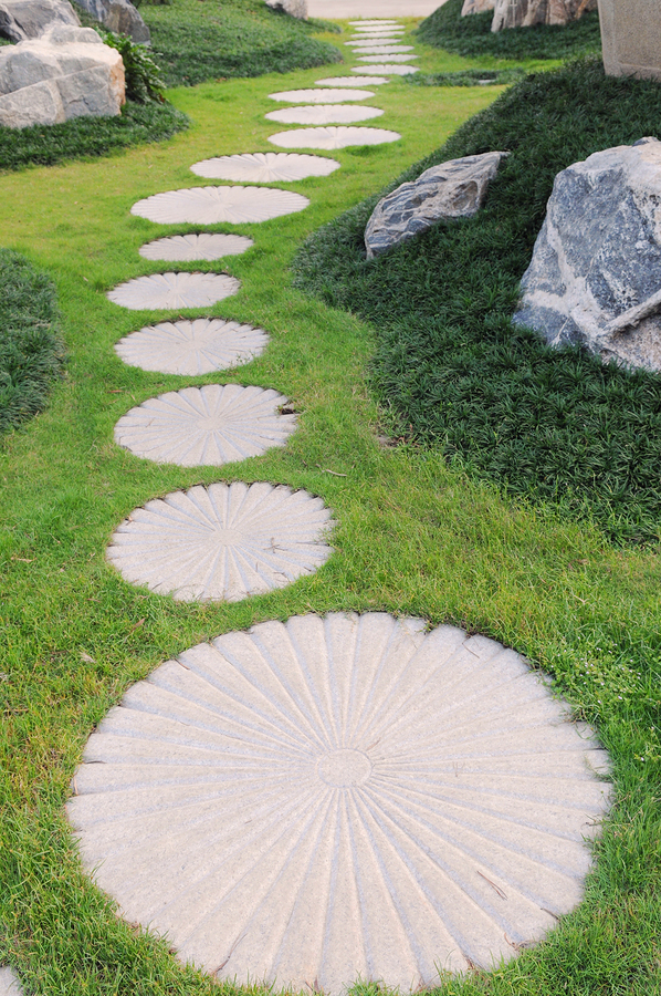 alfa img showing round stepping stone path