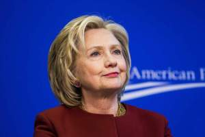 "23 Mar 2015, Washington, DC, USA --- Former U.S. Secretary of State Hillary Clinton takes part in a Center for American Progress roundtable discussion on ""Expanding Opportunities in America's Urban Areas"" in Washington. --- Image by © Brooks Kraft/Corbis"